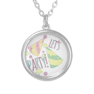 Lets Party Silver Plated Necklace