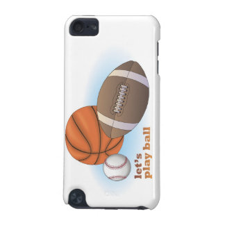 Let's play ball: baseball, basketball & football iPod touch 5G case