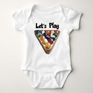 Let's Play Billiards Baby Bodysuit