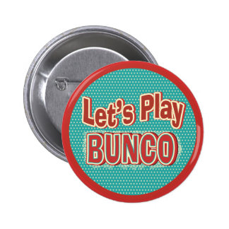 Let's Play Bunco 2 Inch Round Button