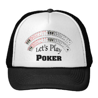 """""""Let's Play Poker"""" Hat"""