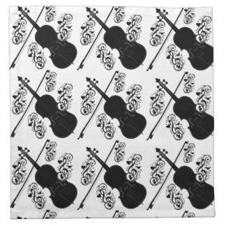 Let's Play,Violin_ Printed Napkin