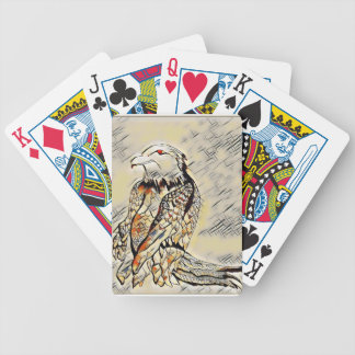Let's Prey Eagle Mosaic Bicycle Playing Cards