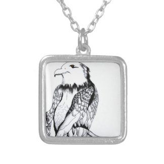 Let's Prey Eagle Silver Plated Necklace