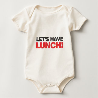Let's property lunch! baby bodysuit