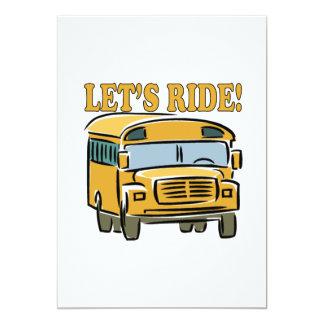 """Lets Ride 5"""" X 7"""" Invitation Card"""