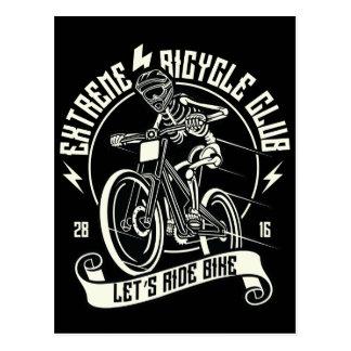 Let's Ride Bike Extreme Bicycle Club BMX Postcard