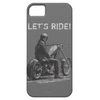 LET'S RIDE! Chopper Motorcycle Rider iPhone 5 Cover