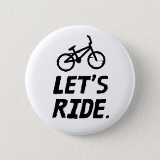 Let's Ride City and Mountain Cyclist Humor 2 Inch Round Button