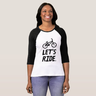 Let's Ride City and Mountain Cyclist Humor T-Shirt