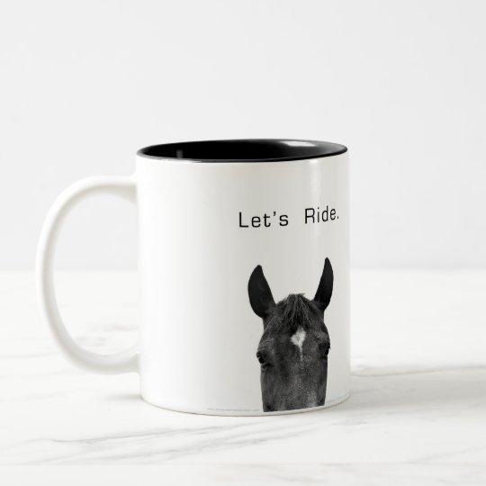 Let's Ride Two-Tone Coffee Mug