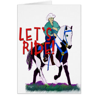 Let's Ride- Whimsical Horse Collection Card