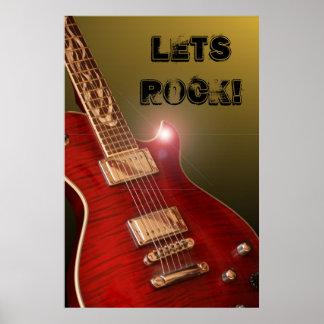 Lets Rock! guitar poster