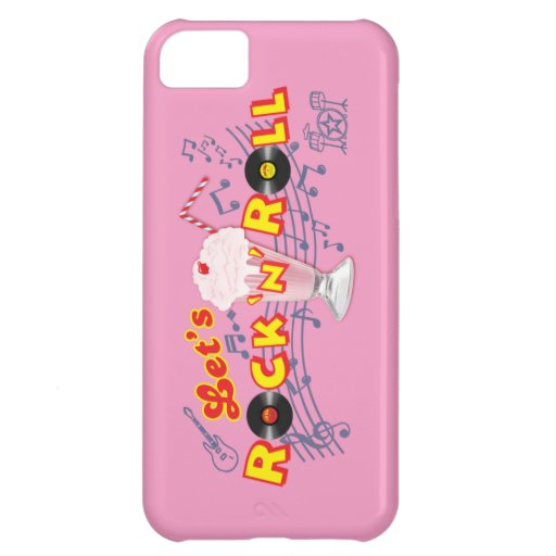 Let's Rock 'n' Roll Iphone5 Case Med Pink iPhone 5C Cases