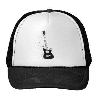 Let's Rock,White music notes&Guitar_ Trucker Hat