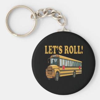 Lets Roll Basic Round Button Keychain