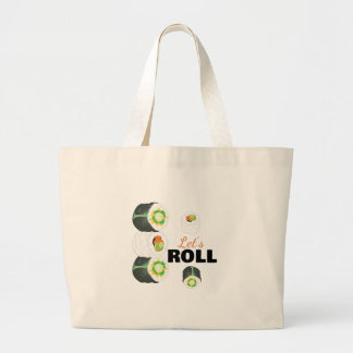 Lets Roll Large Tote Bag