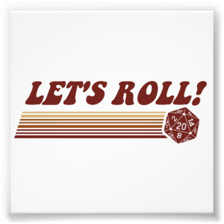 Let's Roll Roleplaying Game Dice Photo Print