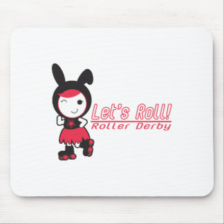 Let's Roll! Roller Derby Mouse Pad