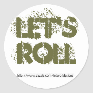 Let's Roll Sticker