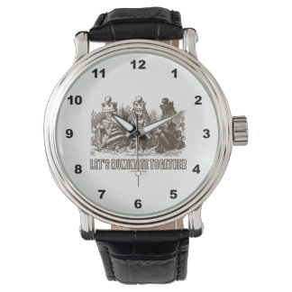 Let's Ruminate Together Wonderland Alice Queens Wristwatch