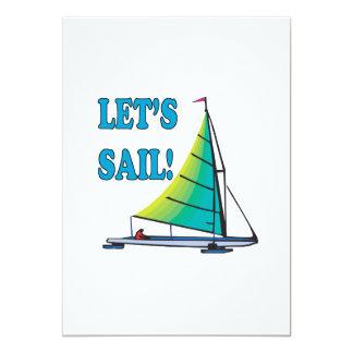 "Lets Sail 5"" X 7"" Invitation Card"