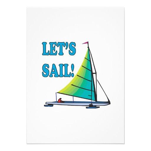 Lets Sail Personalized Invitation