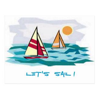 Let's Sail ! Postcard