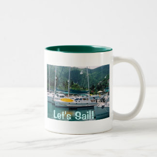 Let's Sail Two-Tone Coffee Mug