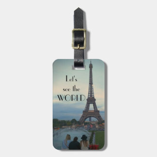 Let's see the world luggage tag