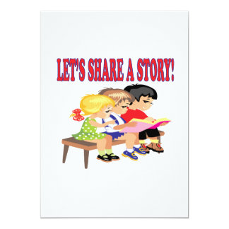 "Lets Share A Story 5"" X 7"" Invitation Card"