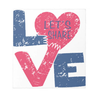 let's share love notepad