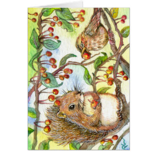 Let's Share - Squirrel And Sparrow Card
