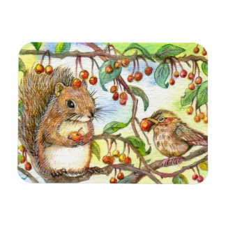 Let's Share - Squirrel And Sparrow Magnet
