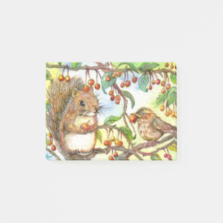 Let's Share - Squirrel And Sparrow Post-it Notes