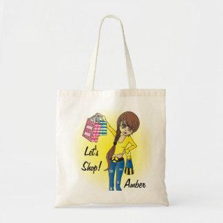 Let's Shop Diva Girl! Tote Bag