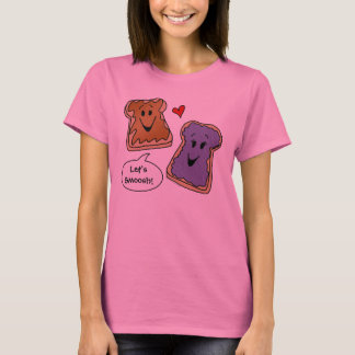 Let's Smoosh Peanut Butter and Jelly Cartoon Shirt