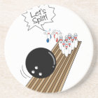 lets split scared bowling pins cartoon humour coaster