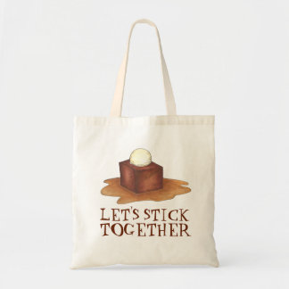 Let's Stick Together British Sticky Toffee Pudding Tote Bag