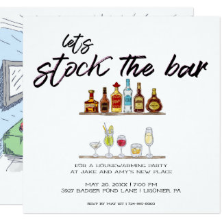 Let's Stock the Bar | Housewarming Party Card