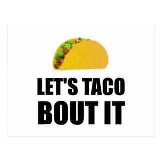 Lets Taco Bout It Postcard