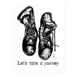 Let's Take a Journey Postcard