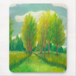 Let's Take a Walk - beautiful day original drawing Mouse Pad
