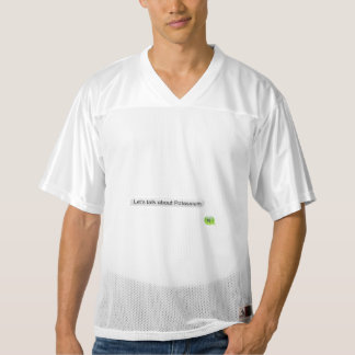 Let's talk about potassium men's football jersey
