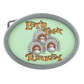 Let's Talk Turkey Belt Buckle
