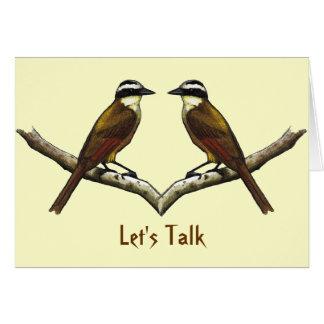 Let's Talk: Two Birds Facing: Reconciliation Card