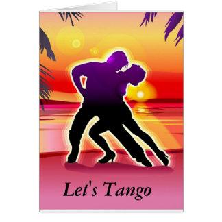 Let's Tango Card