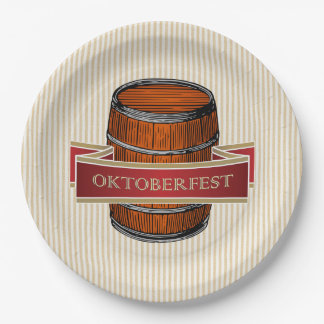 Let's Tap It! Oktoberfest Party Paper Plates 9 Inch Paper Plate