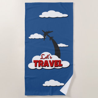 Let's travel beach towel