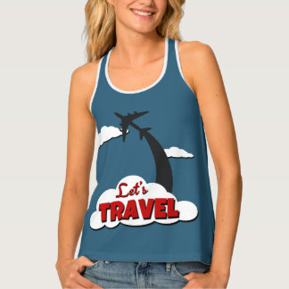 Let's travel tank top